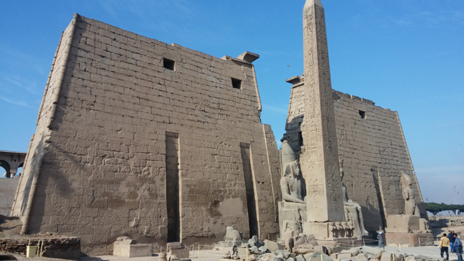 The Luxor Temple seems almost deserted with not many visitors attending.