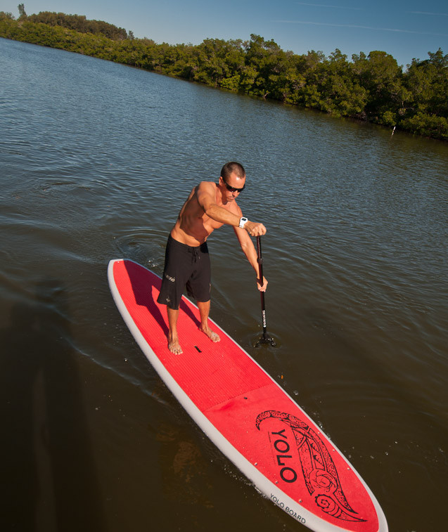 Paddleboarding in Palm Island. (Photo courtesy of Charlotte Harbor Visitor & Convention Bureau)