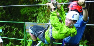 Ready for a ziplining adventure, which is very popular in Costa Rica.