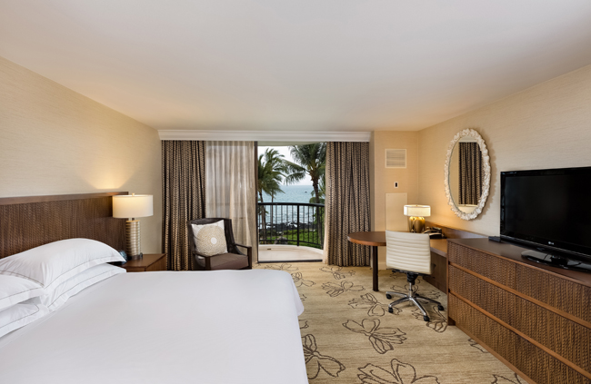 The Hilton Waikoloa Village oceanside king room.