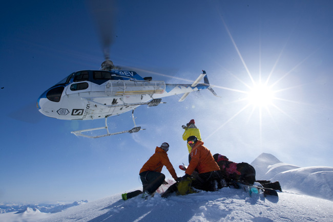 Heli-skiing in Alaska with Chugach Powder Guides (Photo credit: Adam Clark/CPG)