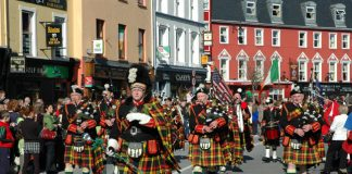 Killarney Pipers Paddys Day.