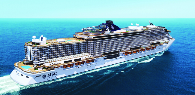 The new MSC Seaside ship is a mega ocean liner that will dock at the Port of Miami.