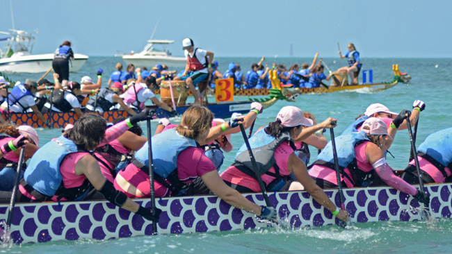 The Florida Keys' Battle in the Bay Dragon Boat Festival.