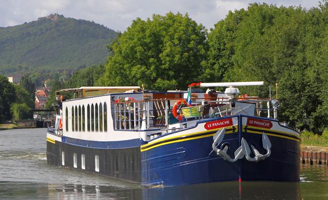 European Waterways' Panache barge cruising in Alsace.