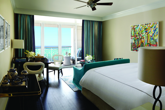 Oceanview room at Rosewood at Baha Mar.