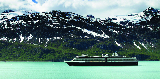Westerdam in Glacier Bay.