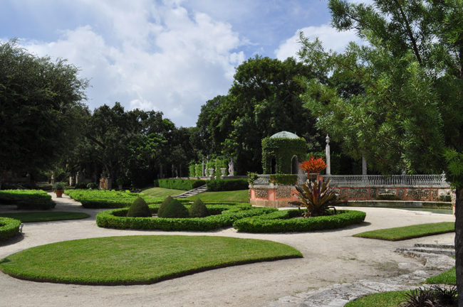 The gardens at Vizcaya.