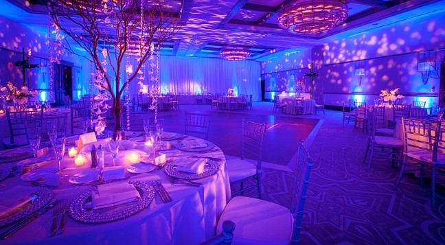 Reception set-up at The Alfond Inn. (Photo credit: Brian Adams Photography.)