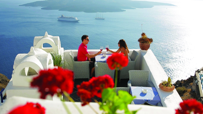 Celestyal Cruises offers travelers plenty of time at ports-of-call,  including  Santorini.