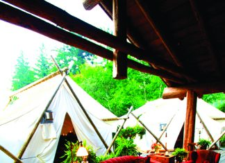 The resort offers luxury tented camp accommodations.