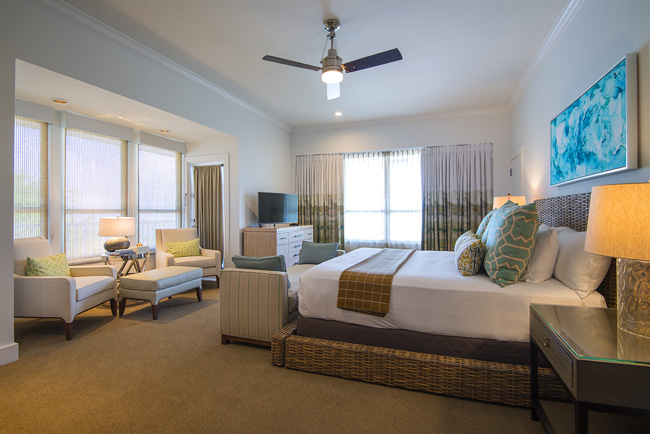 The Coastal Penthouse master guestroom at Hawks Cay Resort.