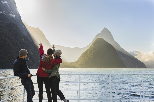 Air New Zealand offers direct flights for various cruise lines.