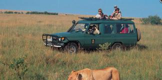 The Mara Game Drive in Kenya.