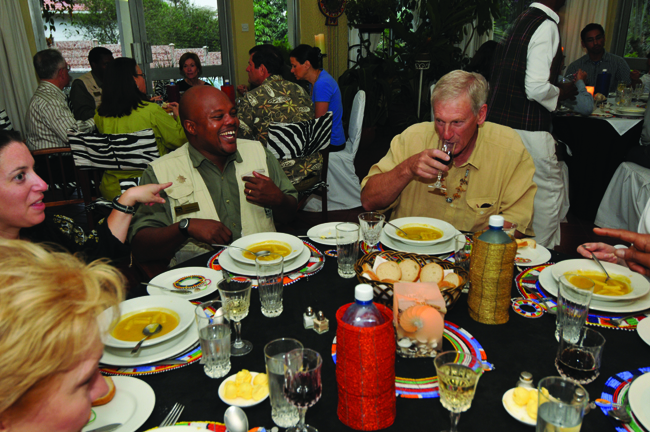 Micato Safaris offers the  opportunity for  travelers to break bread with the locals.