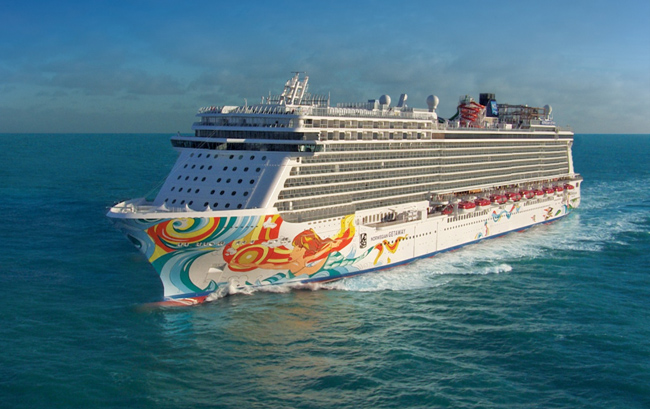 Couples can now wed at sea on board the Norwegian Getaway.