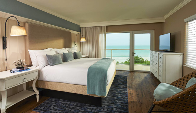 The renovated Oceanfront King guestroom.