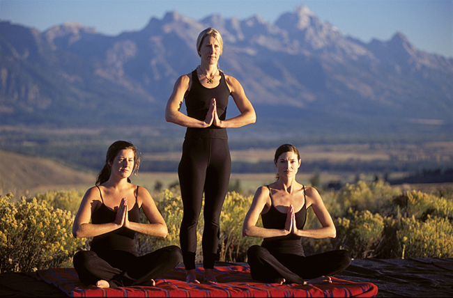 Yoga at Spring Creek Ranch.