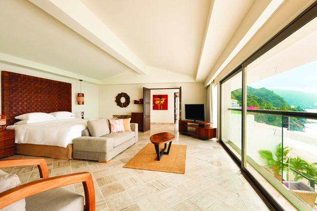 Plunge pool suites at  Hyatt Ziva Puerto Vallarta.