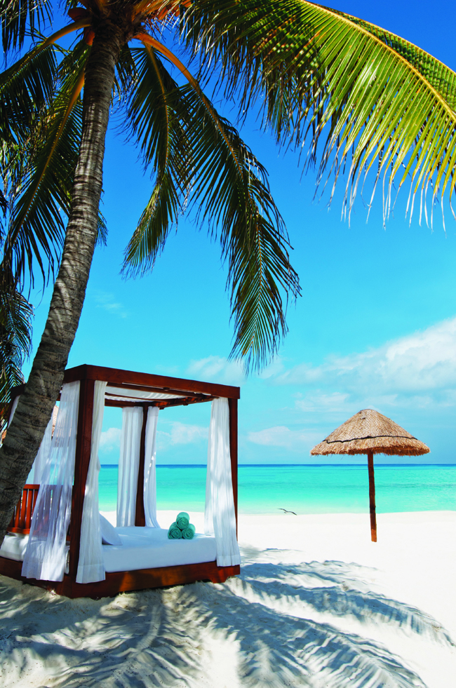 Guests can opt for a beach cabana experience.