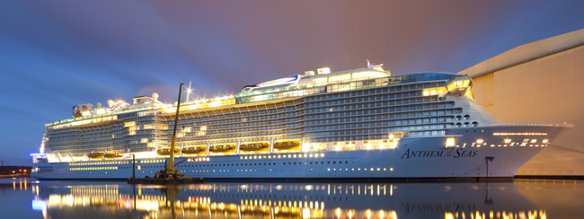 Royal Carribean's Anthem of the Seas is one of the new ships that are debuting this year.