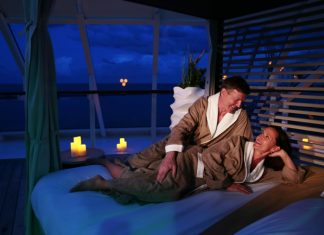 Azamara Club Cruises offers couples a private romantic dinning & sleeping experience under the stars.