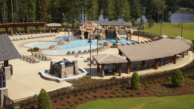 Pool view at the Auburn Marriott Opelika Hotel and Conference Center at Grand National.