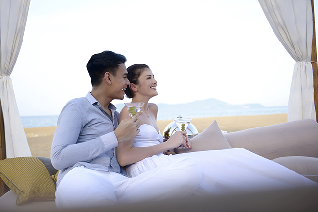 Honeymooners will find the ultimate luxury at the Banyan Tree Lang Co in Vietnam.