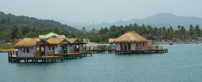 Carnival's private overwater cabanas.