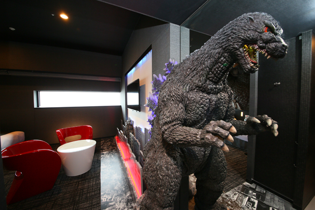 The Godzilla Room at the Hotel Gracery Shinjuku. (Photo credit: TM & (C)TOHO CO., LTD)