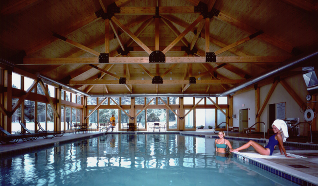 The indoor pool at Southbridge Hotel & Conference Center.