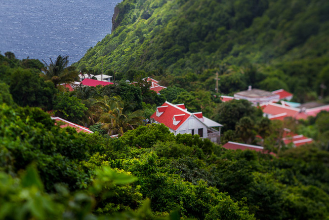 The island of Saba in the Caribbean.