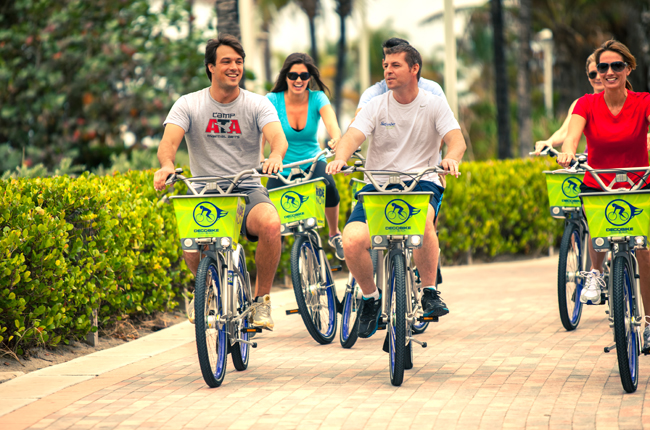 During National Bike Month, Florida Kimpton hotels encourage guests to explore local attractions by bike. (Photo Credit: Kimpton's Surfcomber Miami.)