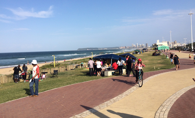 The Golden Mile promenade in Durban.