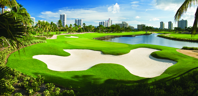 Views of the golf course at Turnberry Isle Miami.