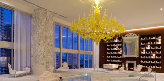 Viceroy Miami Spa water lounge.