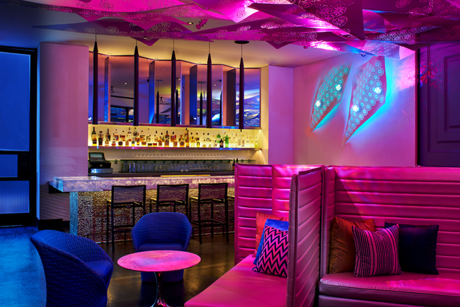 The W Los Angeles-West Beverly Hills' Living Room Bar.