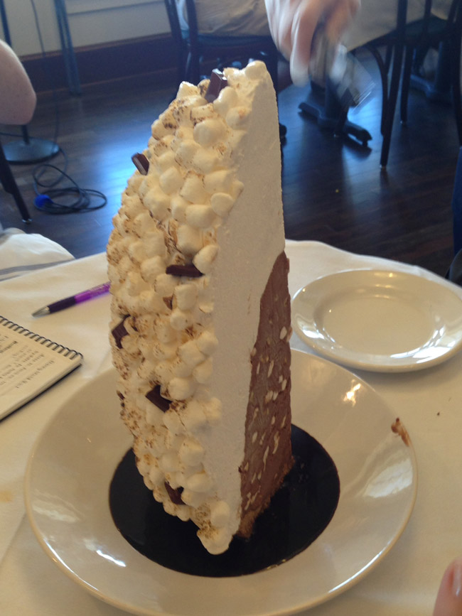 Baked Alaska at The BOATHOUSE in Downtown Disney.
