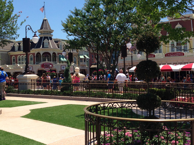 Park plazas at Magic Kingdom.