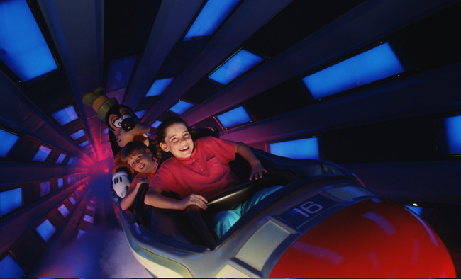 Space Mountain at Tomorrowland, Magic Kingdom.