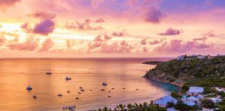 Sunset views at CeBlue Villas & Beach Resort.