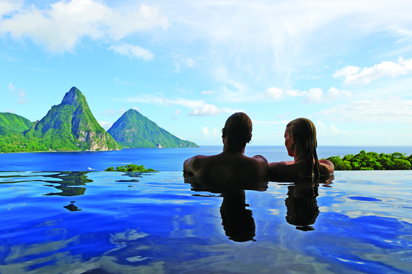 Stunning views from Jade Mountain.