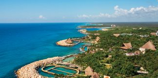 Aerial view of Occidental Grand Xcaret.