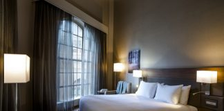 Guestroom at the AC Hotel New Orleans.