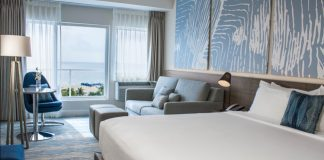 Renovated guestroom at B Ocean Resort.