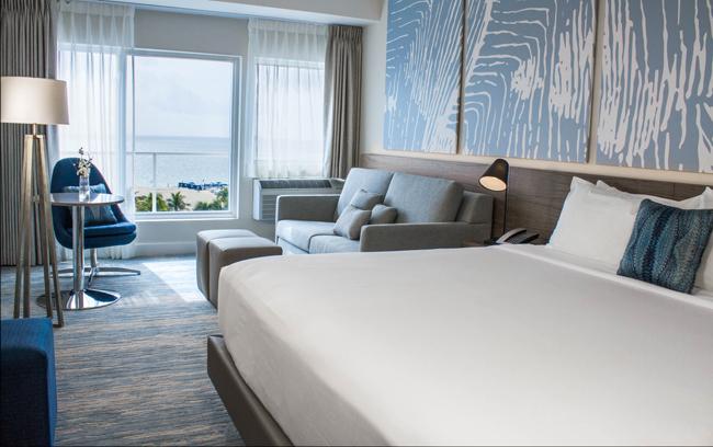 Renovated guestroom at B Ocean Resort.