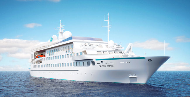 Rendering of the new Crystal Esprit yacht experience ship.