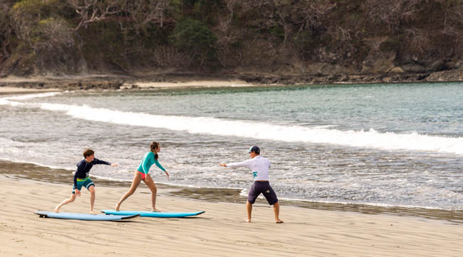 Surf lessons at the Four Seasons Costa Rica.