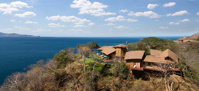 Aerial view of the Four Seasons Resort Costa Rica at Peninsula Papagayo.