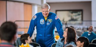 Astronaut Jon McBride will be one of the astronauts leadings guests on the Fly with an Astronaut programs.